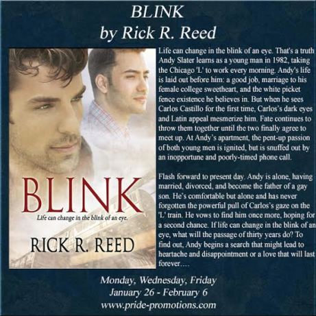 Rick R. Reed, Blink: Interview, Excerpt, & Giveaway