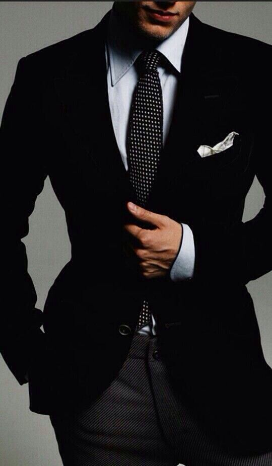 Sexy guy in suit no face
