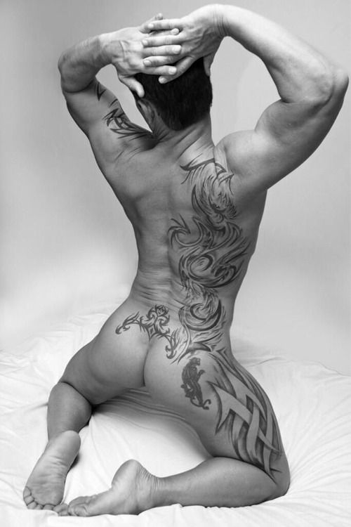Tattoos and sexy arse