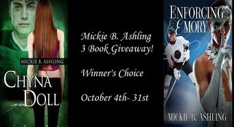 Mickie B. Ashling: Three Book Giveaway